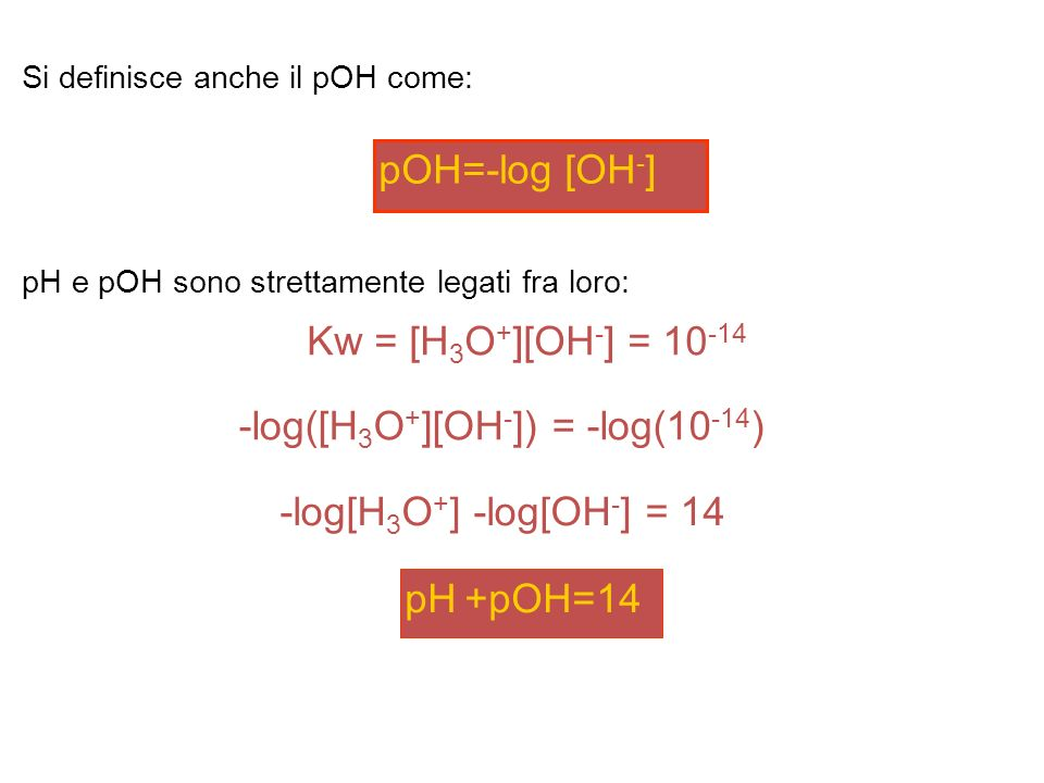 -log([H3O+][OH-]) = -log(10-14)